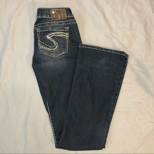 Silver Jeans Tuesday dark wash low rise bootcut jeans size 27